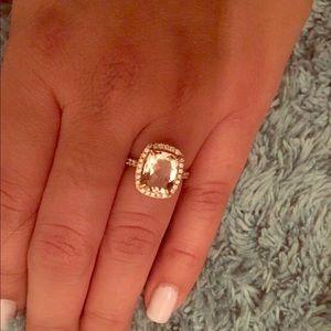 Jewelry - 18k rose gold Morganite diamond engagement ring